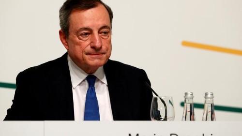 Draghi prevê mais incentivos na zona euro