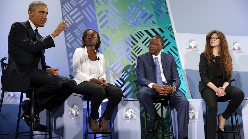 Africa is on the move, says Obama in Kenya