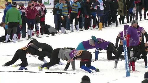 Снежное регби в Зеленограде