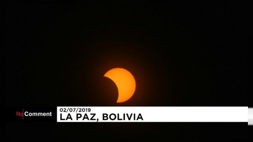 L'eclissi totale di sole vista dalla Bolivia