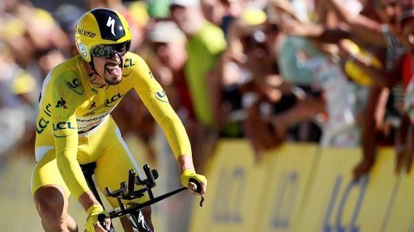 #TourdeFrance : #Alaphilippe, toujours en jaune, remporte le contre-la-montre