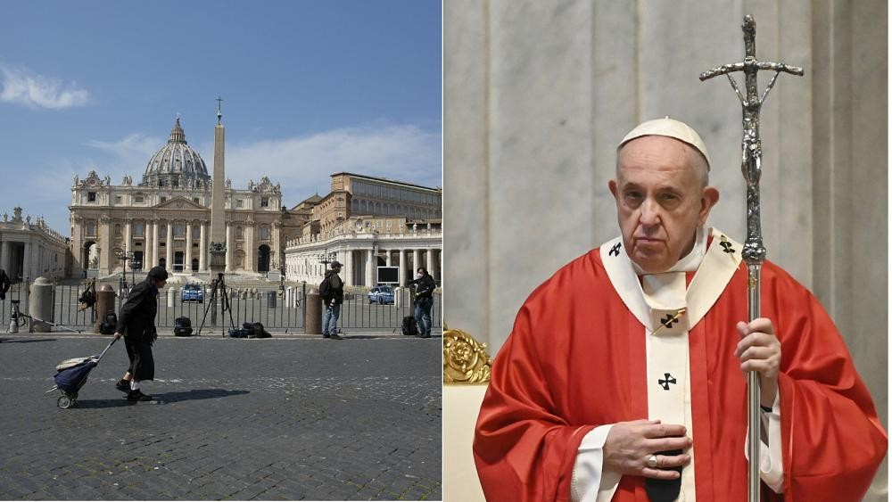 Pope Francis delivers closed-door Palm Sunday Mass