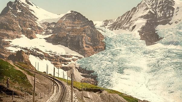 Before and after: see how Swiss glaciers have shrunk dramatically across 150 years