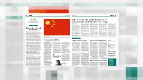 Le coronavirus sur le drapeau chinois : un journal danois créé la polémique
