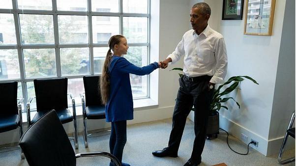 """Barack Obama zu Greta Thunberg: """"Du und ich, wir sind ein Team"""""""