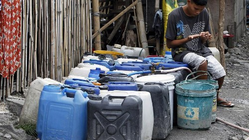 Manila residents struggle to cope with water rationing