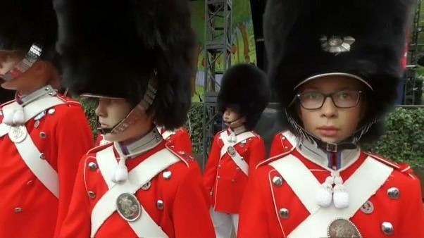 Watch: Girls and boys march in step as world's oldest youth guard turns 175