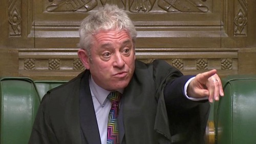 Watch: Did Speaker Bercow just sum up how everyone is feeling about Brexit amendments?