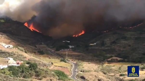 Verheerender Waldbrand auf Gran Canaria