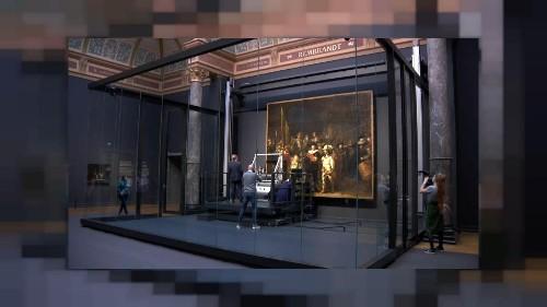 """Rembrandt: iniziato il restauro show della """"Ronda di notte"""""""