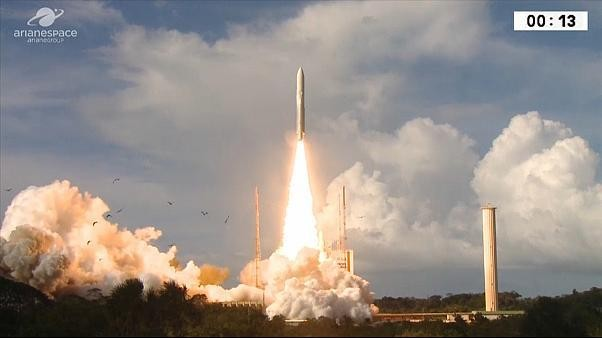 Watch: ESA launches high-speed network into atmosphere atop a rocket