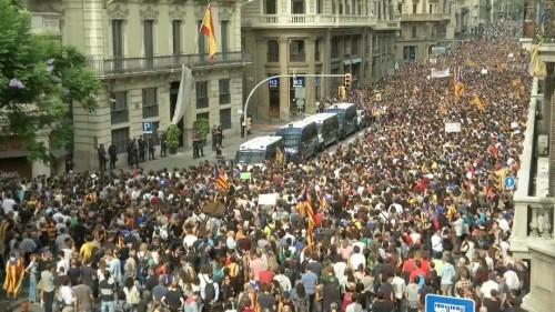 Generalstreik und Demos in Katalonien