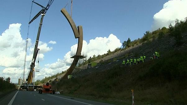 Watch: 'World's biggest sculpture' installed in Belgium