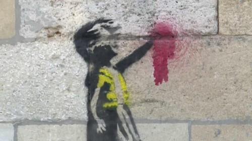 Banksy soutien des gilets jaunes ?