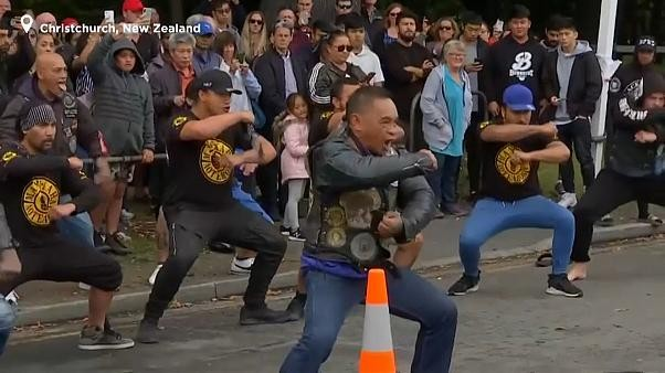 Watch: New Zealanders perform haka to honour mosque shooting victims