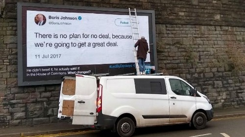 Brexit billboard crusaders: Four 'working dads' are holding politicians to account