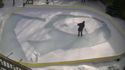 "Mann aus Toronto präsentiert seine ""Snowna Lisa"""