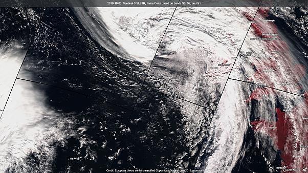 Weather warnings as remnants of Hurricane Lorenzo hit Ireland and UK