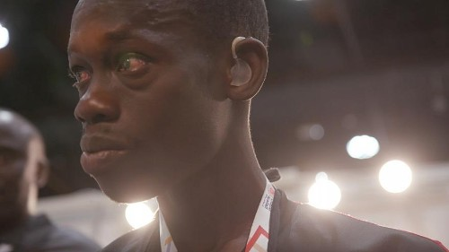 Senegalese athlete hears for the first time at Abu Dhabi's Special Olympics