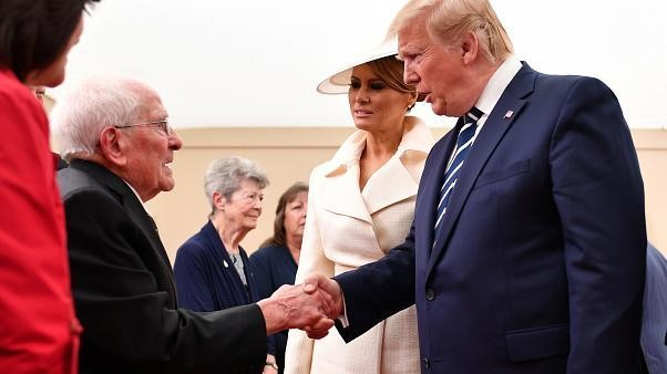 Watch: 'If only I was 20 years younger,' laments veteran, 93, as he meets Melania Trump