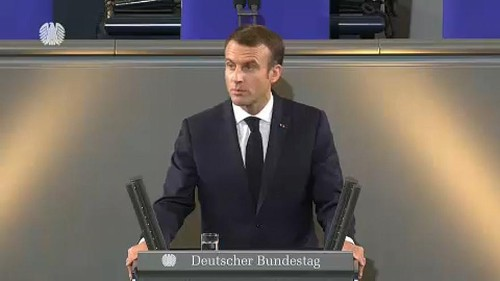 Macron pleads for EU unity in Berlin