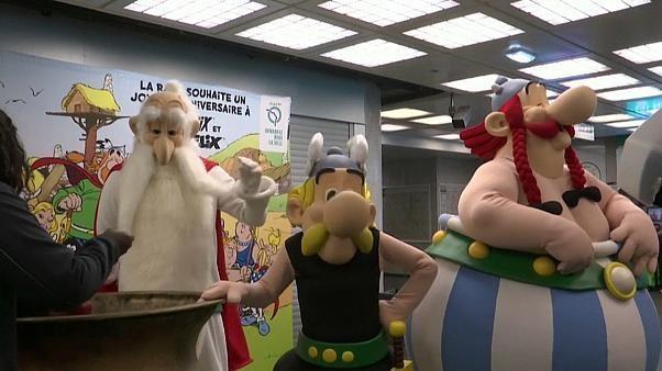 Joyeux anniversaire Astérix dans le métro parisien