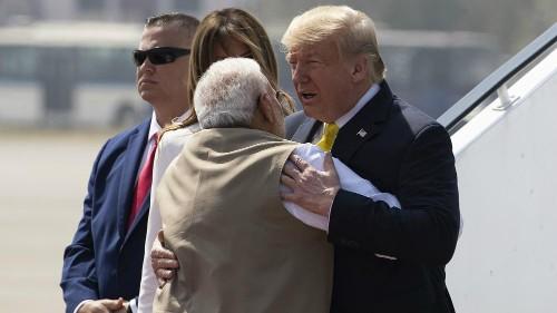 Donald et Melania Trump effectuent leur première visite d'Etat de 2 jours en Inde