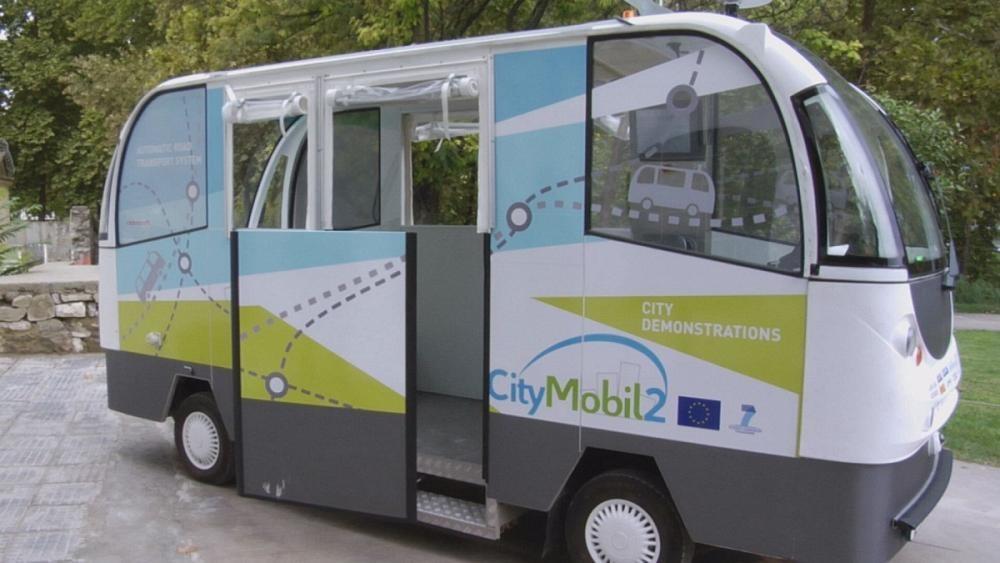 Trikala : mini bus sans chauffeur et à l'essai