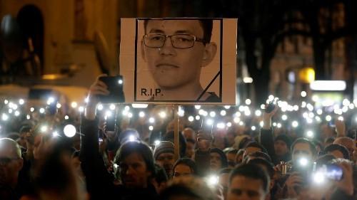 Slovaks remember slayed journalist Jan Kuciak and renew justice calls