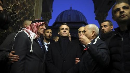 """""""L'instant Chirac"""" d'Emmanuel Macron en visite à Jérusalem"""