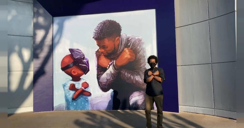 """Le héros de """"Black Panther"""" immortalisé   Africanews"""