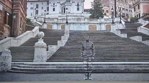 Watch: Spot the artist in Milan exhibition by the Invisible Man