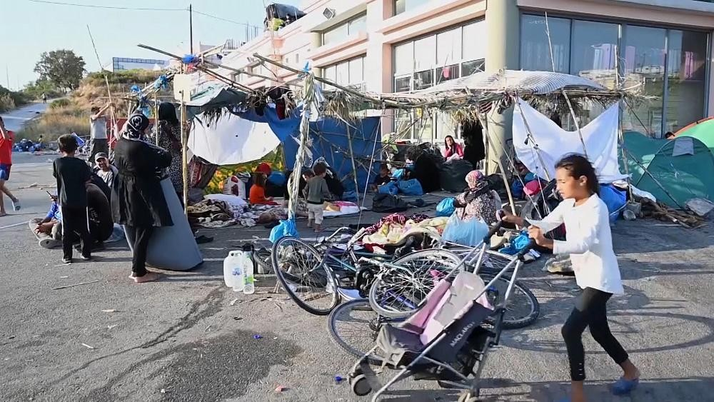 Migrants still stuck in limbo on Lesbos after Moria camp blazes