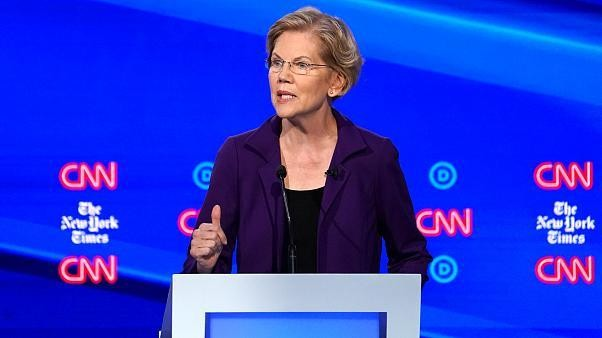 Elizabeth Warren under fire at Democratic debate