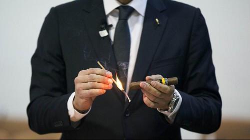 Des touristes américains au festival de cigare de La Havane