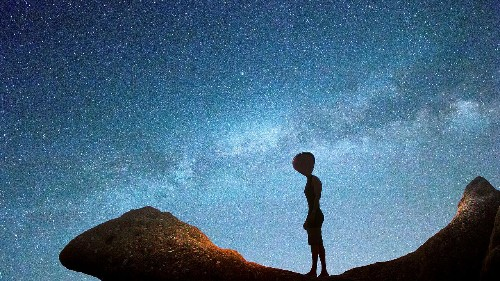 We keep looking for space aliens. Are they looking for us?