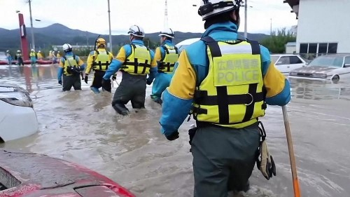 Japan rescue crews search for typhoon survivors