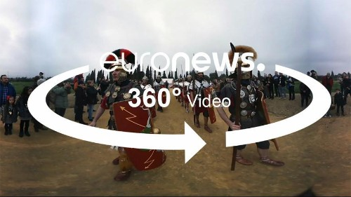 360° video: Re-enacting Rome in Spain