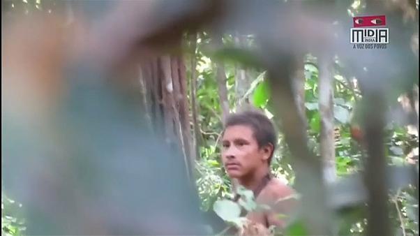 Amazonas: Stamm durch Rodung bedroht - Aktivisten sind seltene Aufnahmen von Mitgliedern des indigenen Awa Stammes gelungen, der abseits der Zivilisation im brasilianischen Amazonasgebiet lebt.