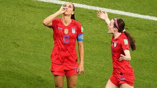 US forward Alex Morgan provokes English fans with 'tea drinking' celebration
