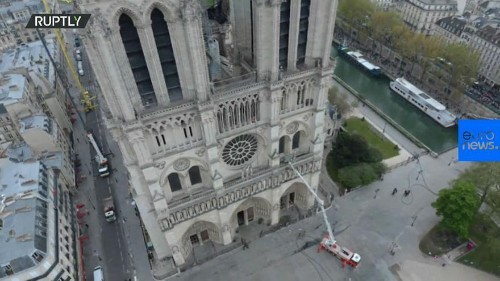 Notre Dame fire: Drone footage reveals devastating damage to Paris cathedral
