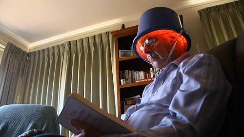 Watch: Parkinson's sufferers claim infrared light helmets ease symptoms