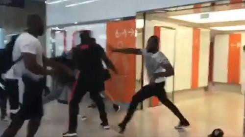 Mass airport brawl between rap stars closes terminal and delays flights in Paris