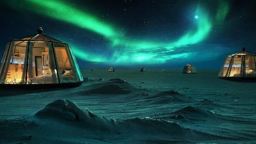 How sustainable is staying in a luxury igloo in the North Pole?