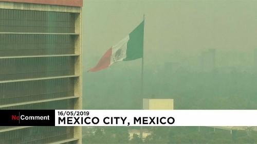 Мехико накрыл смог из-за лесных пожаров