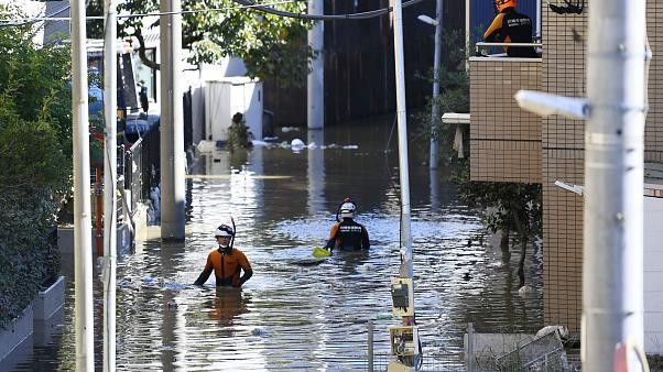 Seven killed, 15 missing as fierce typhoon pounds Tokyo