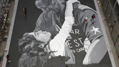 Une grande fresque à Manille en l'honneur de Kobe Bryant et sa fille