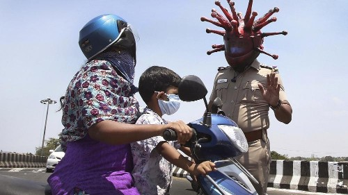 Indien: Polizei warnt mit Coronavirus-Tanz