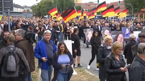Las tensiones dividen a la ciudad de Chemnitz, al este de Alemania