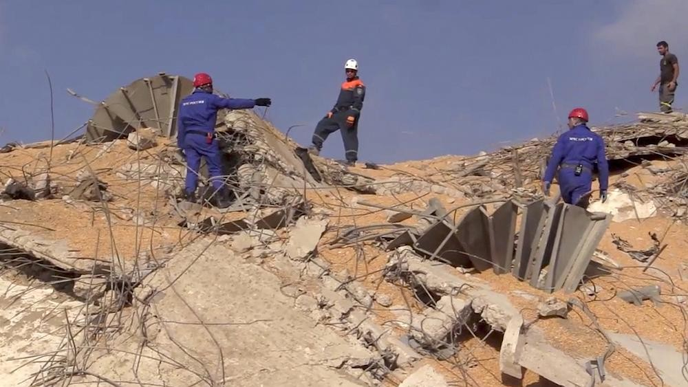 Russian teams search rubble from Beirut explosion